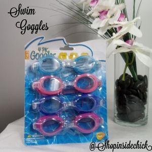 🍓$5 In Bundle🍓Kids Swim Goggles Multi-Colors 4pk